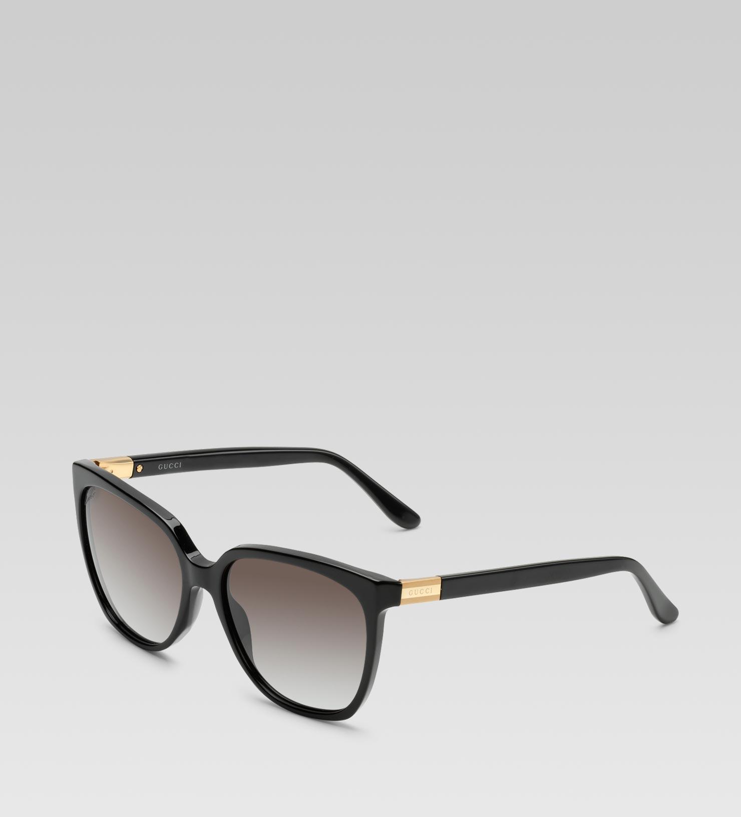 Gucci Square Sunglasses  gucci medium square frame sunglasses with gucci web plaque logo
