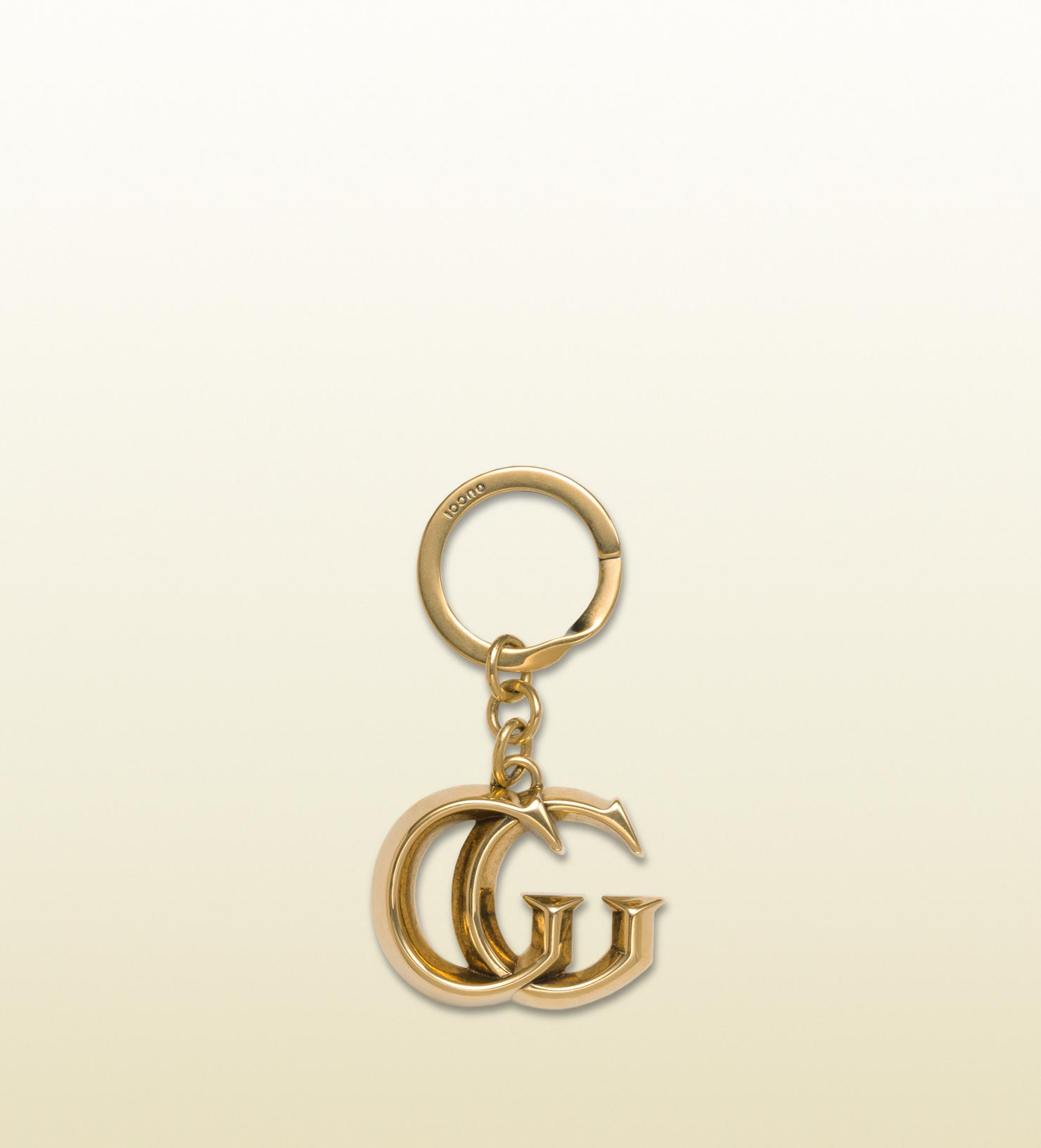 ad0fd4d9fdd08 Lyst - Gucci Key Ring with Double G Detail in Metallic for Men