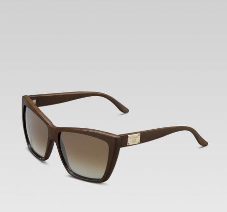 Gold Frame Rectangular Sunglasses : Gucci Special Edition Medium Rectangle Frame Sunglasses in ...