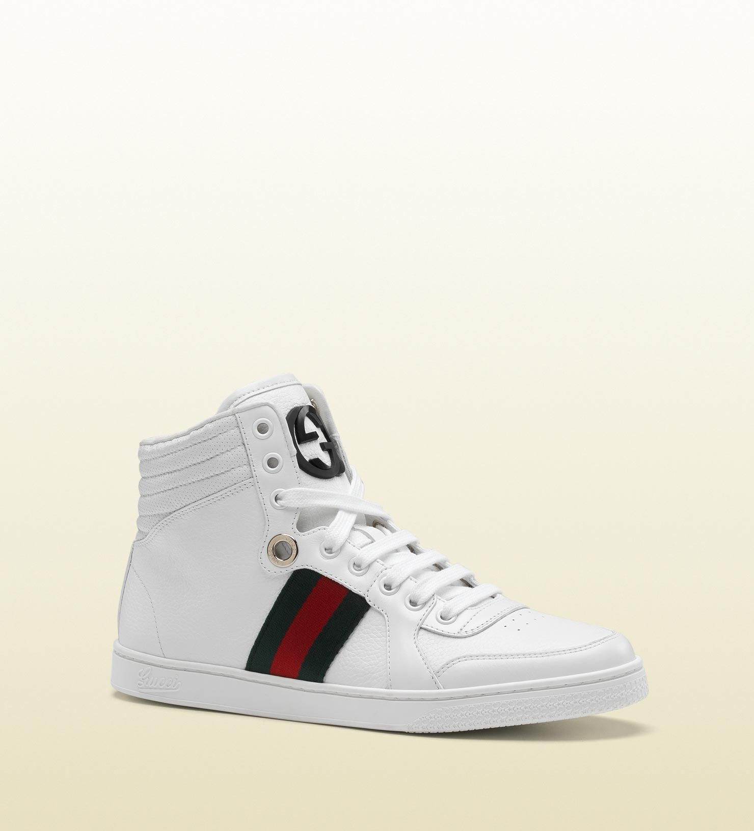 lyst gucci coda hi top sneaker with interlocking g and. Black Bedroom Furniture Sets. Home Design Ideas