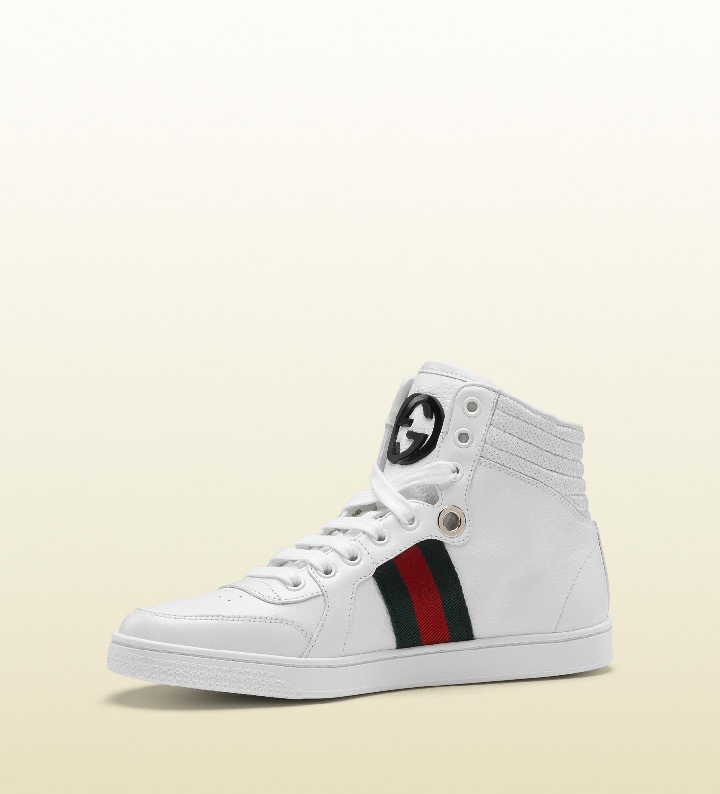 cb4243fab46 Lyst - Gucci Coda Hi-top Sneaker With Interlocking G And Signature ...