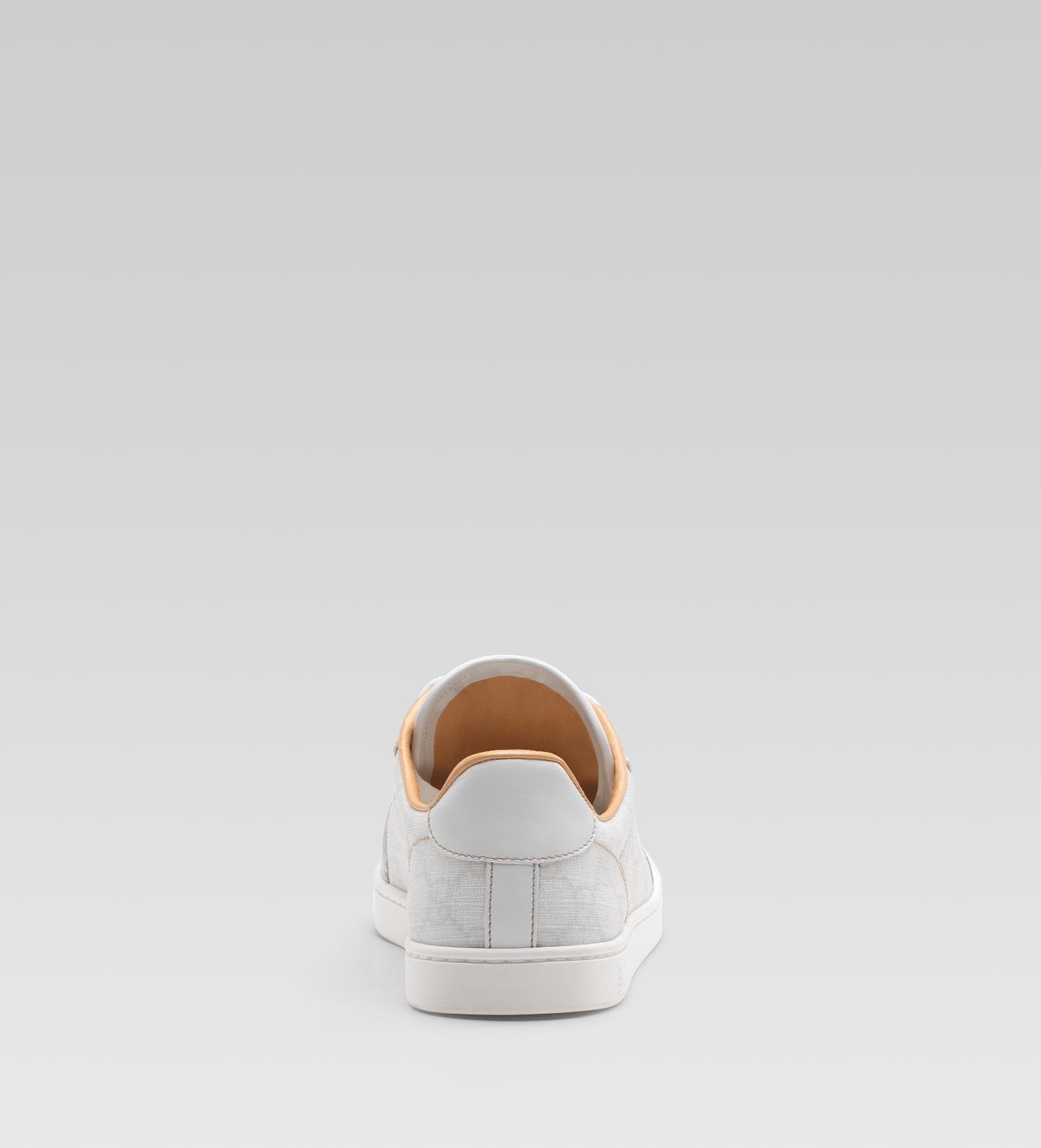 0de668b4b Gucci Coda Low Laceup Sneaker with Interlocking G Detail in White - Lyst