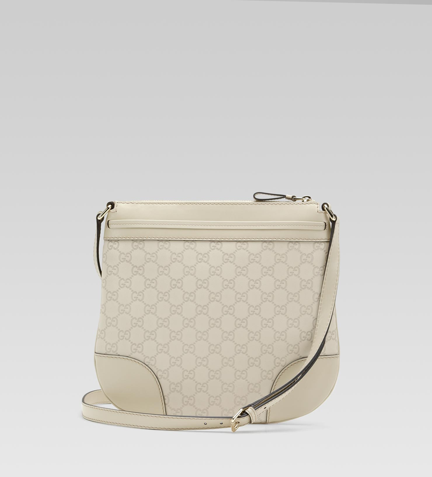 8302e0cebbb7 Lyst - Gucci Mayfair Guccissima Leather Messenger Bag in Natural
