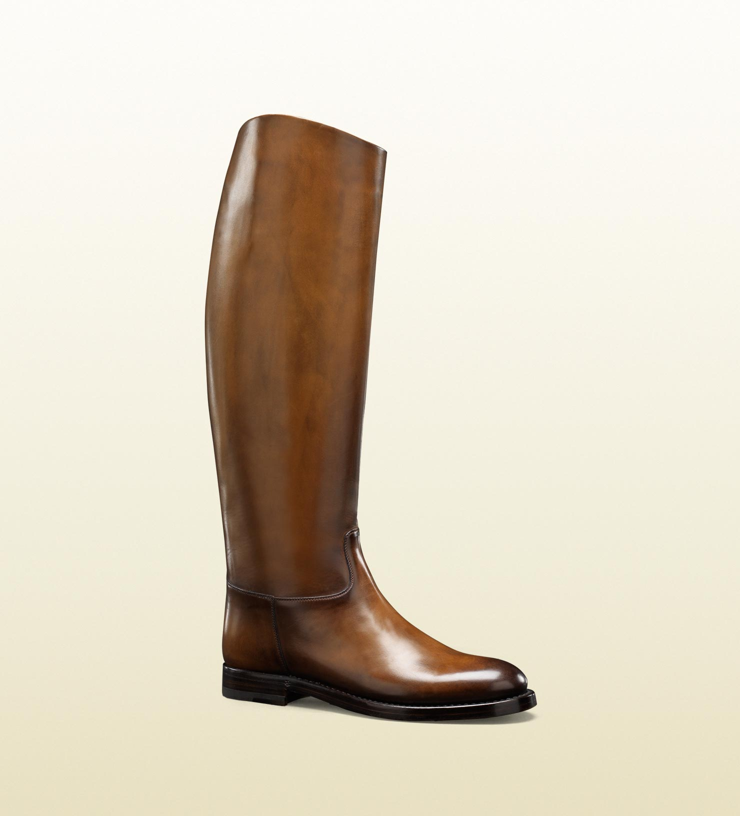 Gucci Riding Boot in Brown | Lyst