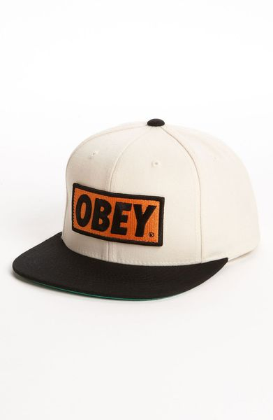 Obey Original Baseball Cap in White for Men (natural)