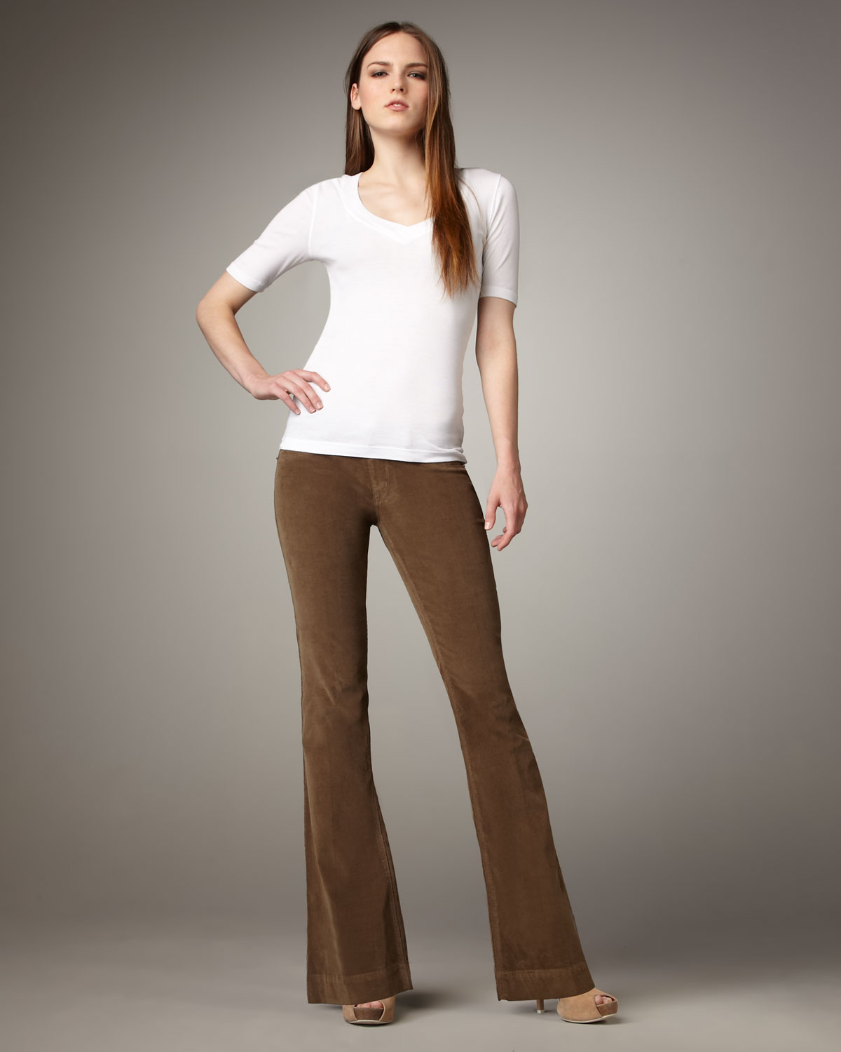 Sold denim Boot-cut Corduroy Pants, Tan in Brown | Lyst