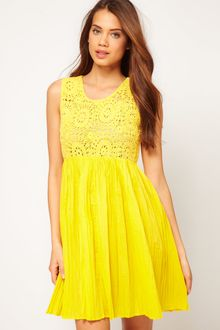 ASOS Collection Asos Summer Dress with Crochet Top - Lyst