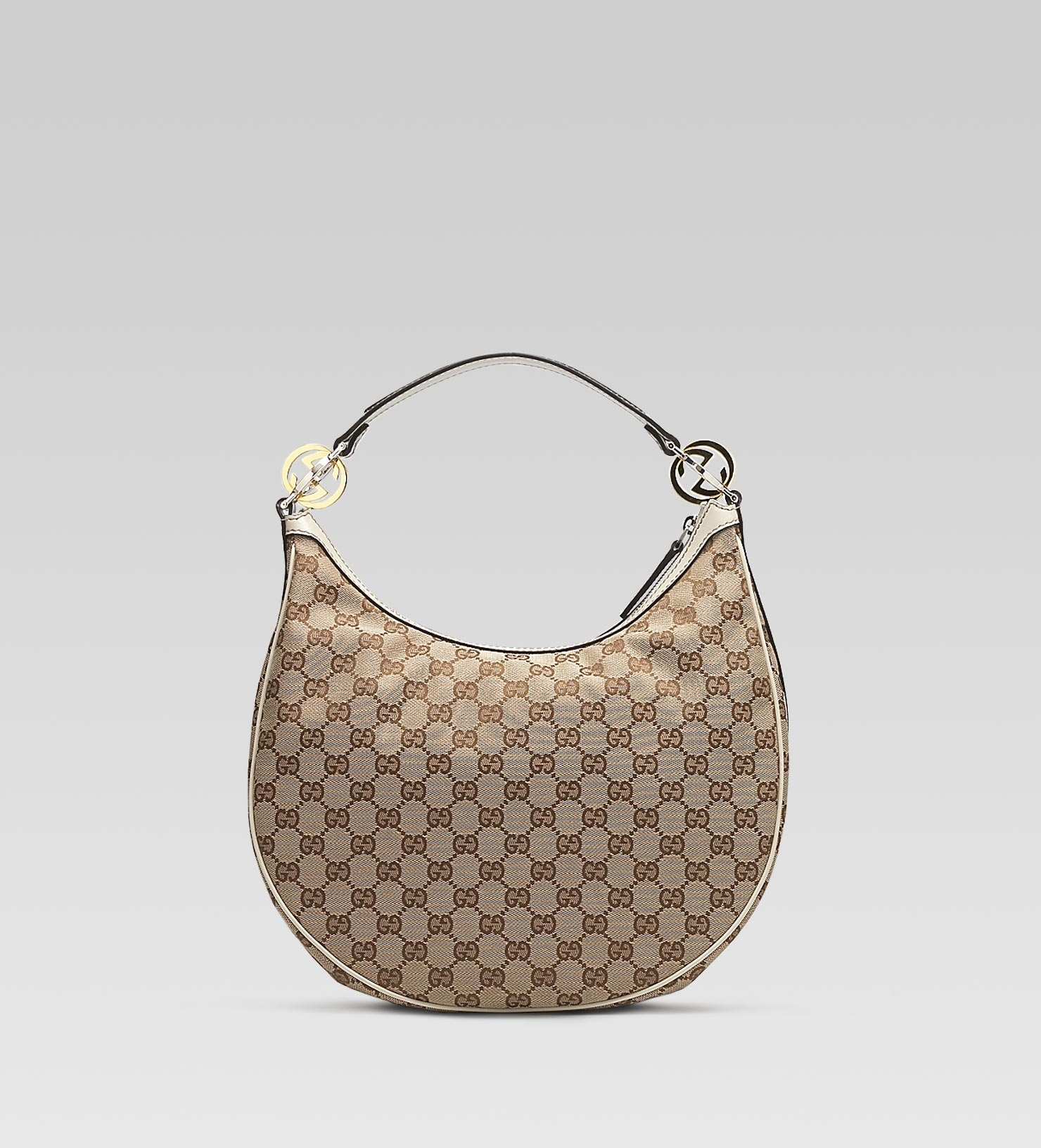 bc039fcb0916 Gucci Gg Twins Medium Hobo with Interlocking G Details in Natural - Lyst