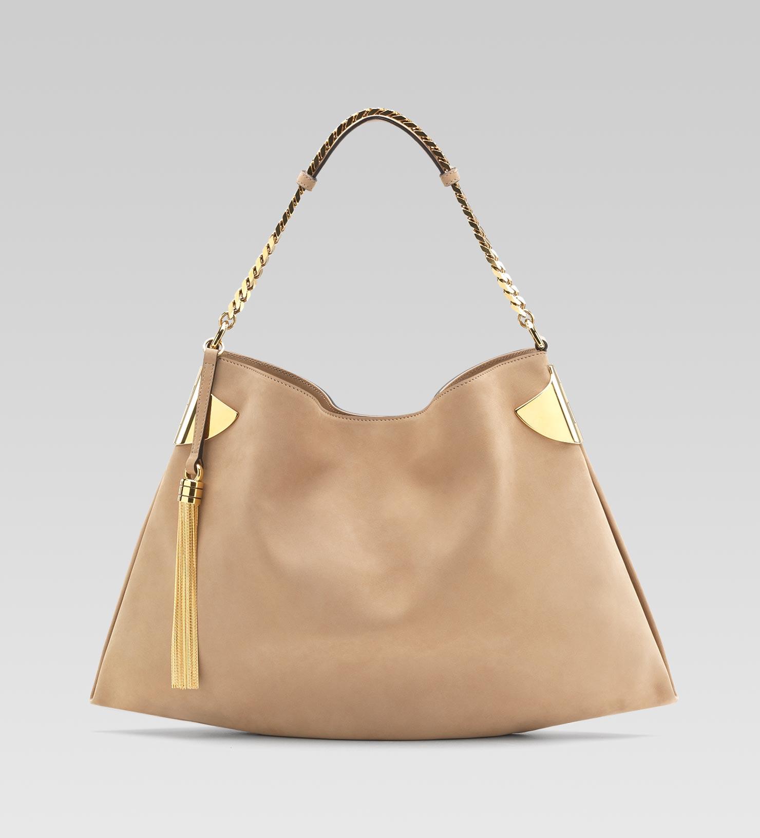 Lyst - Gucci Gucci Shoulder Bag in Natural