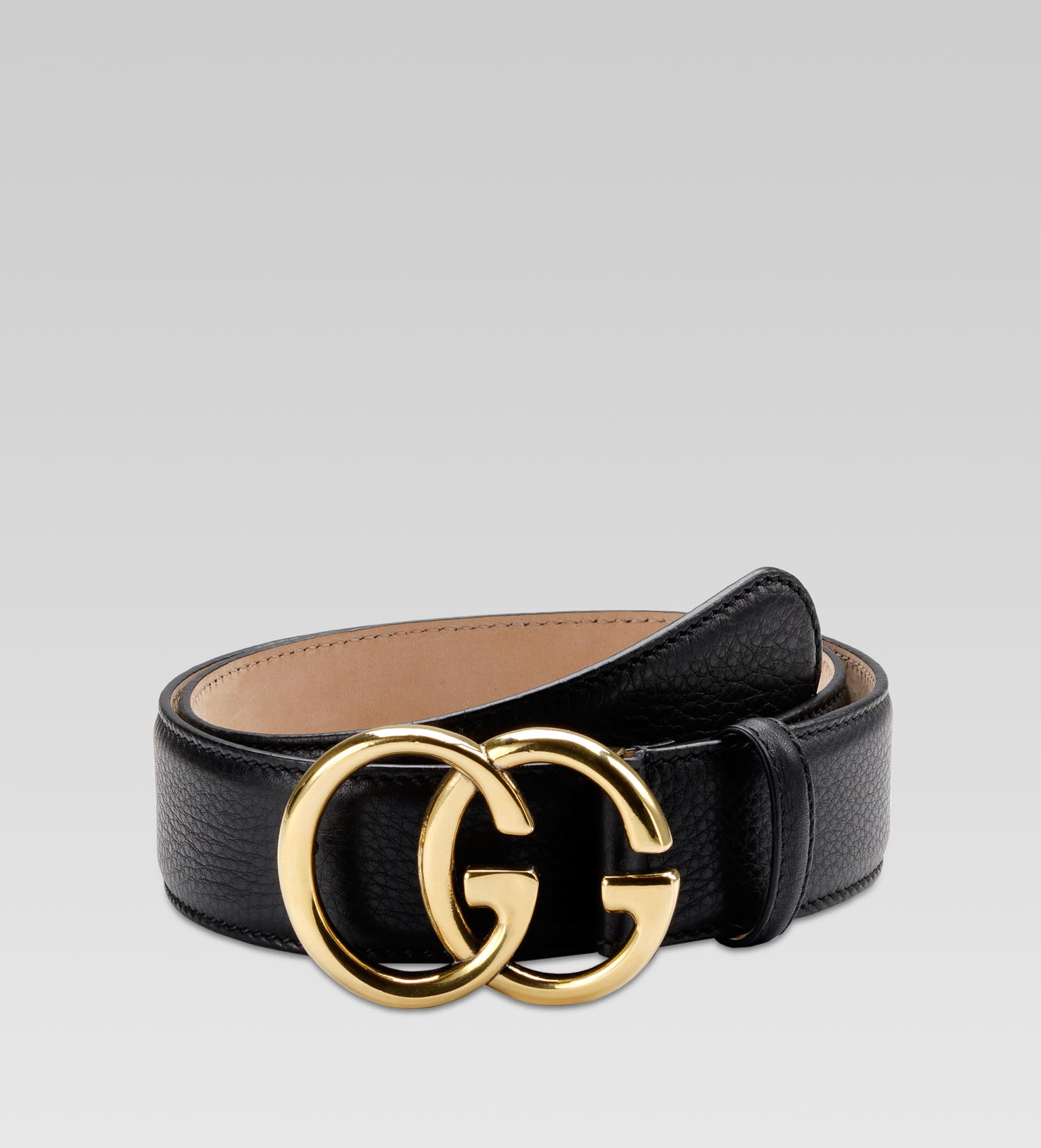 88e24fea782 Gucci Belt With Double G Buckle in Black - Lyst