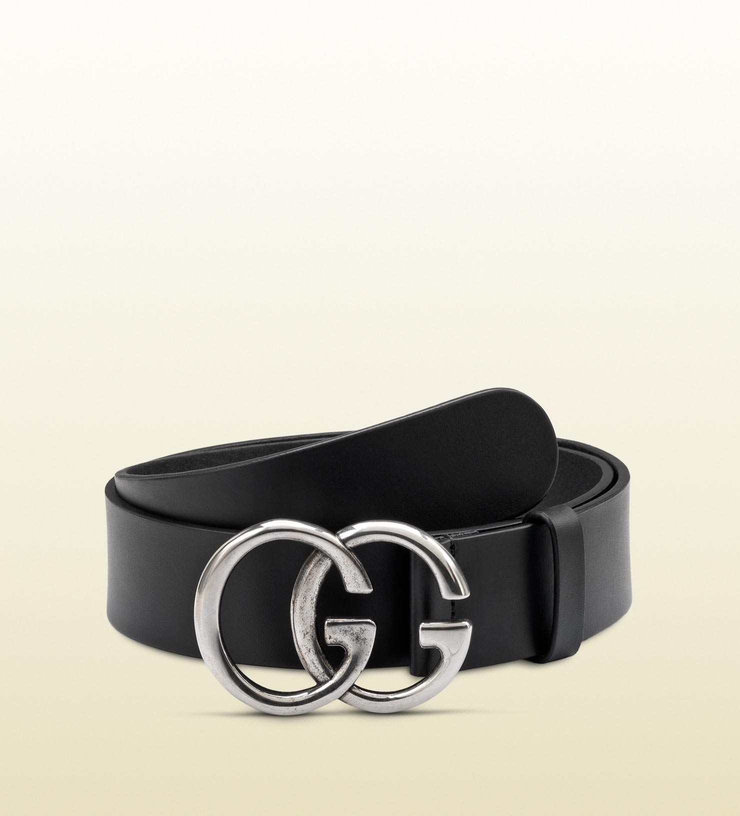Lyst - Gucci Belt With Double G Buckle in Black for Men 7b125b2f835