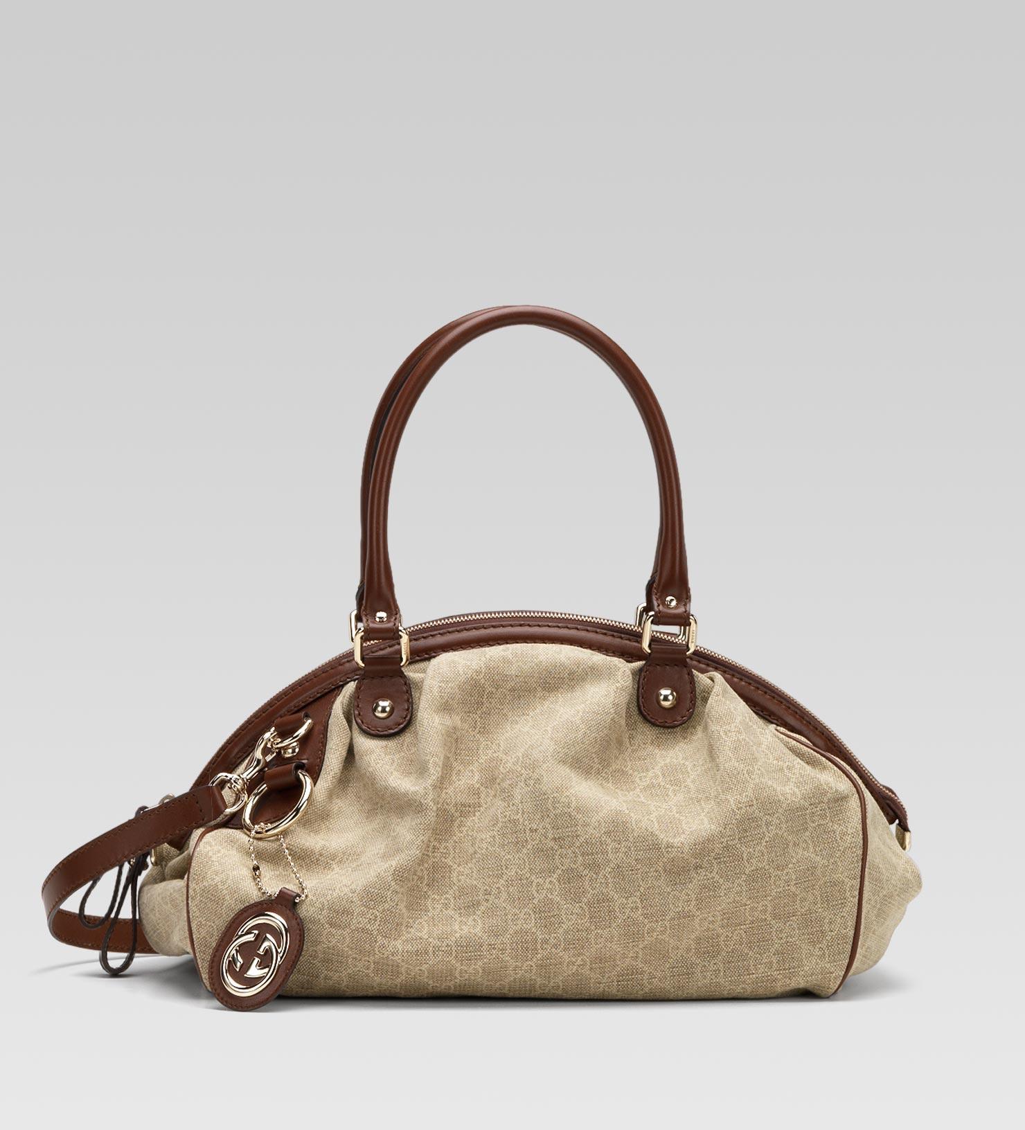 8a156a4fdf8c Gucci Sukey Boston Bag in Natural - Lyst