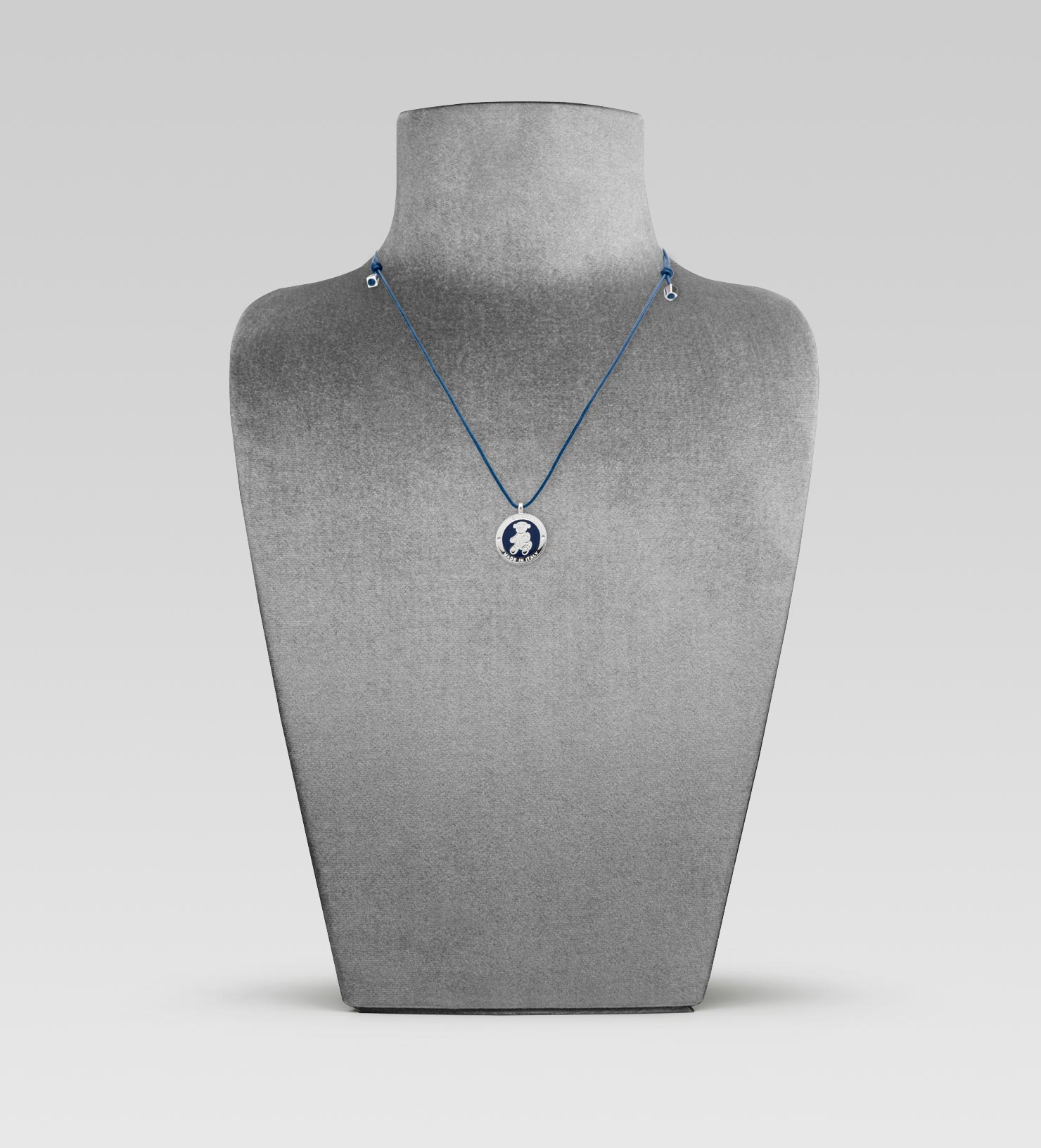 b4df25396 Gucci Necklace with Teddy Bear Medal in Blue - Lyst