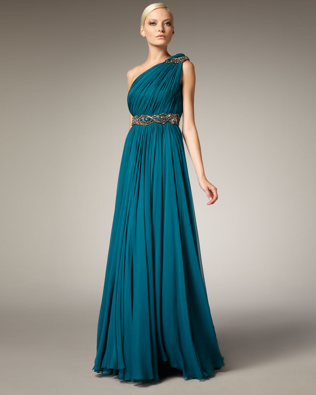 One Shoulder Grecian Dress