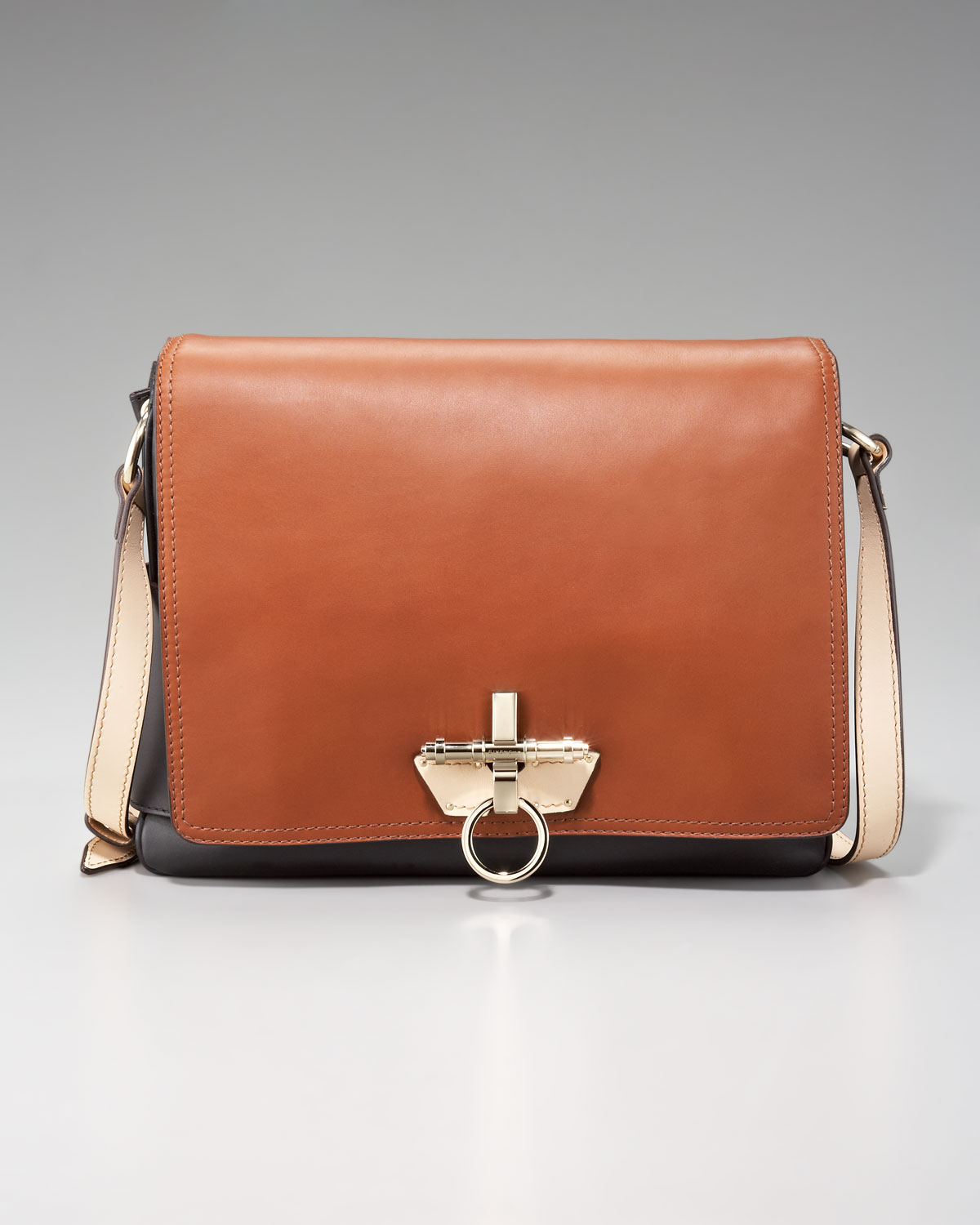 a0476ecd82 Lyst - Givenchy Tricolor Scuba Obsedia Messenger in Brown