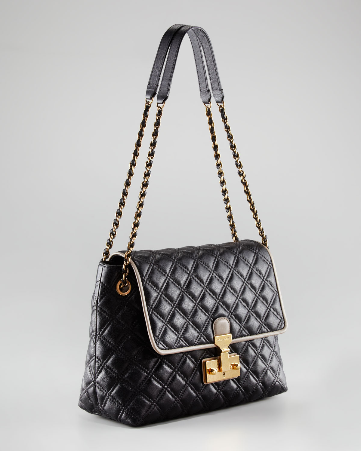 Marc jacobs The Single Baroque Twotone Quilted Bag Extralarge in ... : marc jacobs single quilted bag - Adamdwight.com