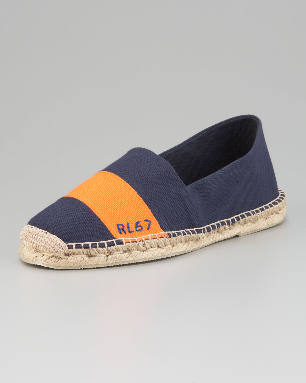 ralph lauren striped canvas espadrille in blue for men lyst. Black Bedroom Furniture Sets. Home Design Ideas