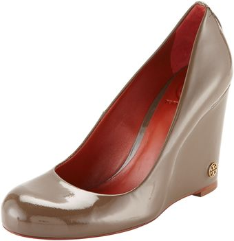 Tory Burch Annelise Patent Logo Wedge - Lyst