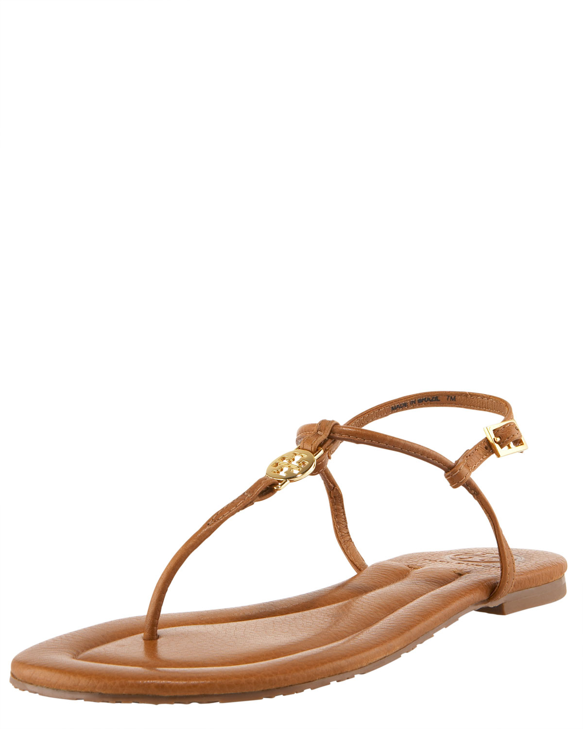 8bcb6bcbc80fb8 Lyst - Tory Burch Emmy Logo Thong Sandal in Brown