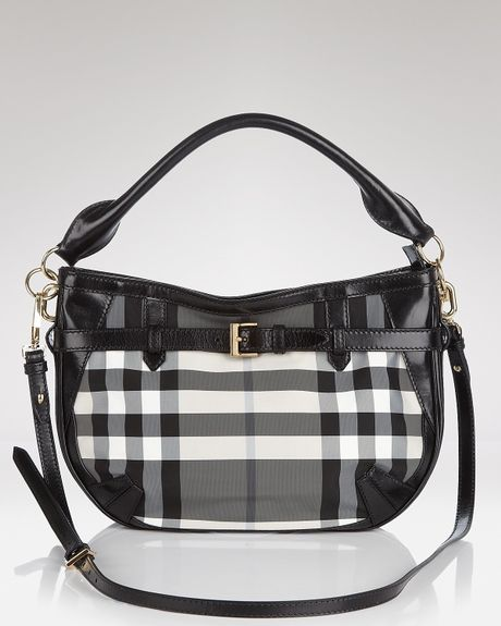 Burberry Crossbody Beat Core Small Waltham in Gray (charcoal check)