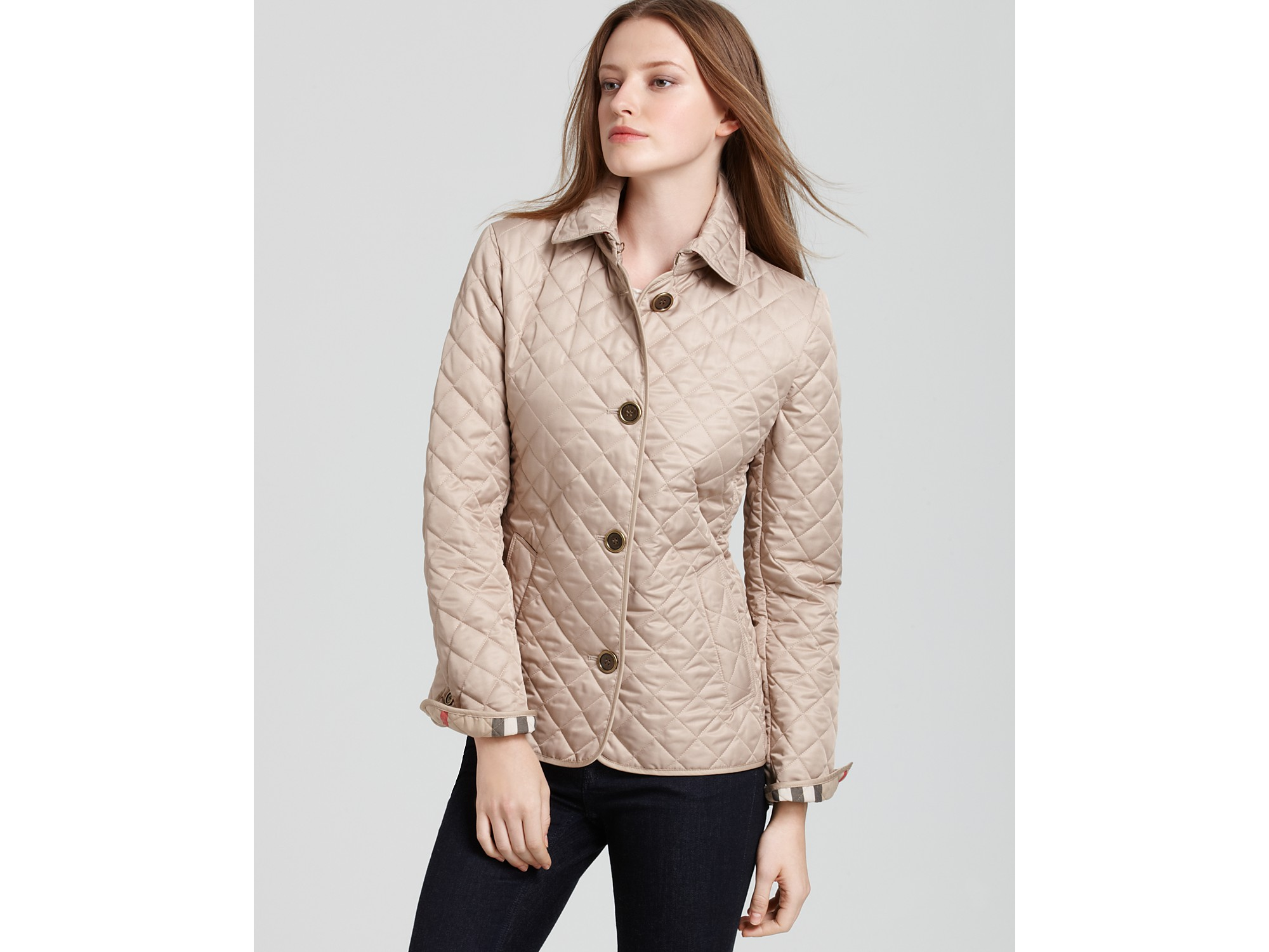 Lyst - Burberry Brit Quilted Jacket in Natural : burberry brit jacket quilted - Adamdwight.com