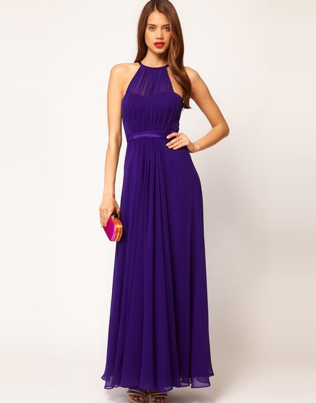 Coast Coast Halter Maxi Dress in Purple (violet)