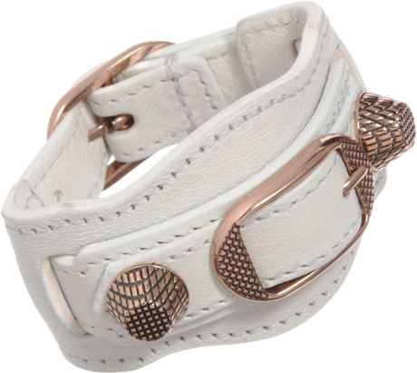 Balenciaga Arena Giant Rose Gold Bracelet in Pink (rose)
