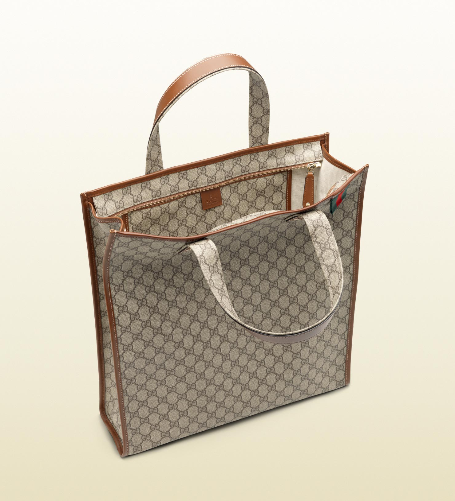 e0f3e0214757b6 Gucci Medium Tote with Signature Web Loop in Natural for Men - Lyst