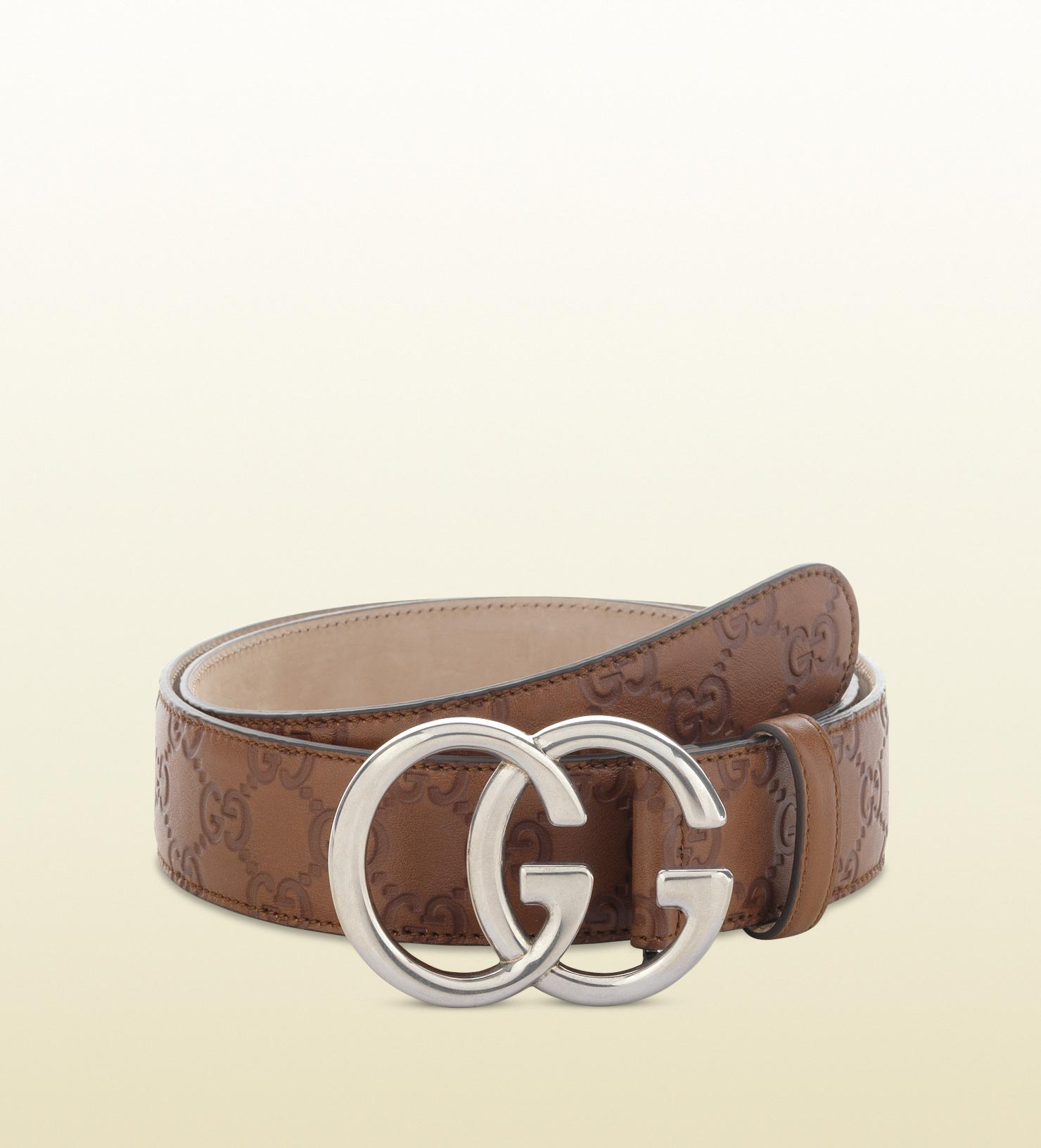 gucci belt with g buckle in brown for lyst