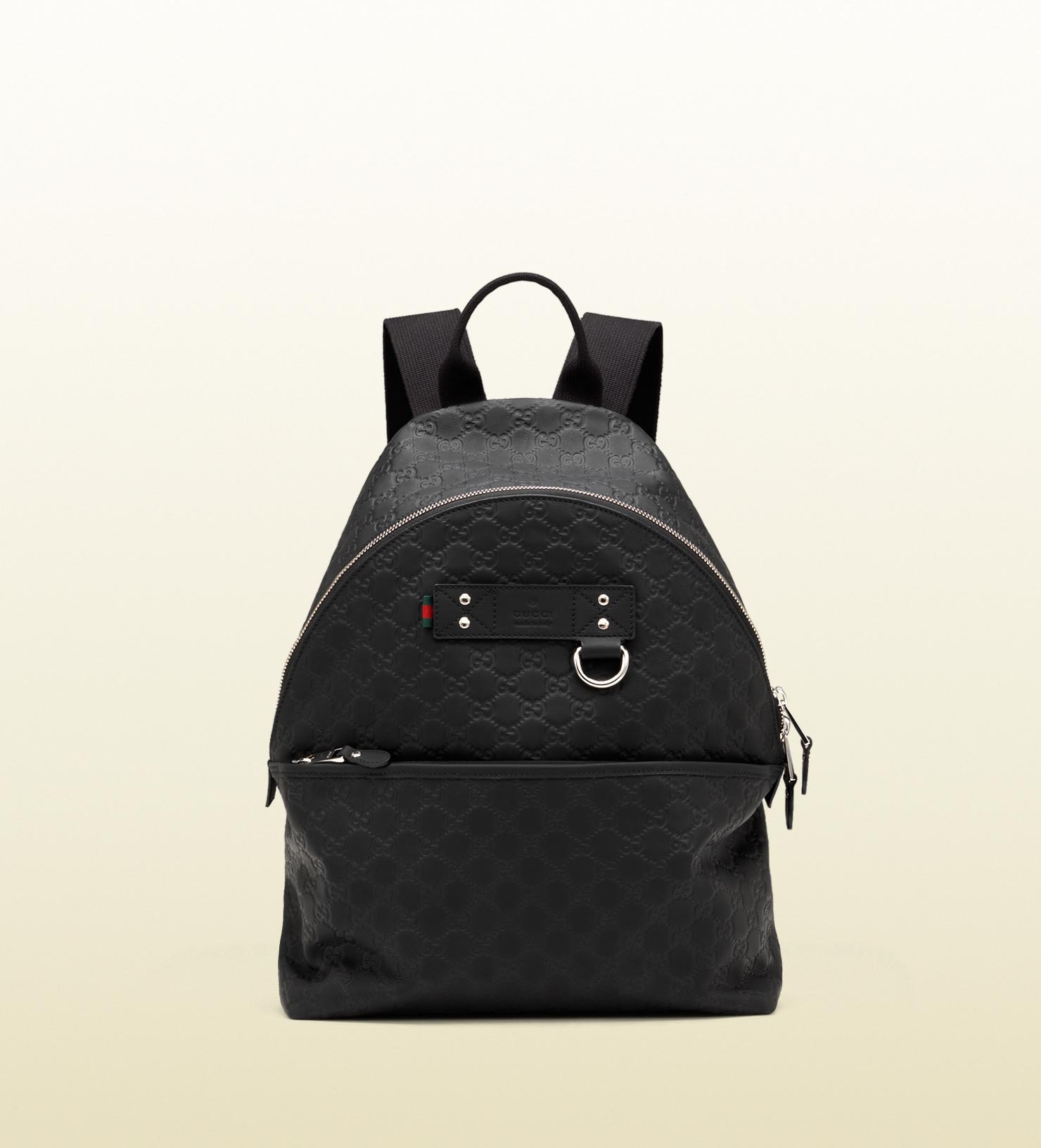 516a81251d2 Gucci Black Rubber Ssima Leather Backpack in Black for Men - Lyst