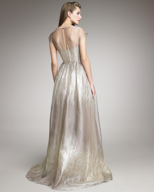 Lyst - Lela Rose Organza Gown in Metallic