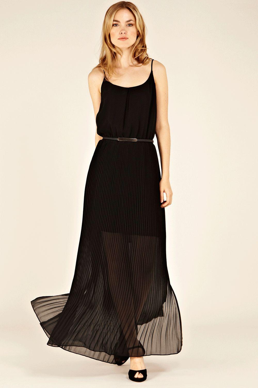 Black maxi dress chiffon