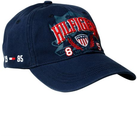 hilfiger usa baseball hat in blue for lyst