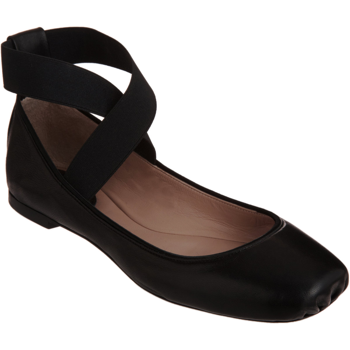 Black Valentino Flat Shoes