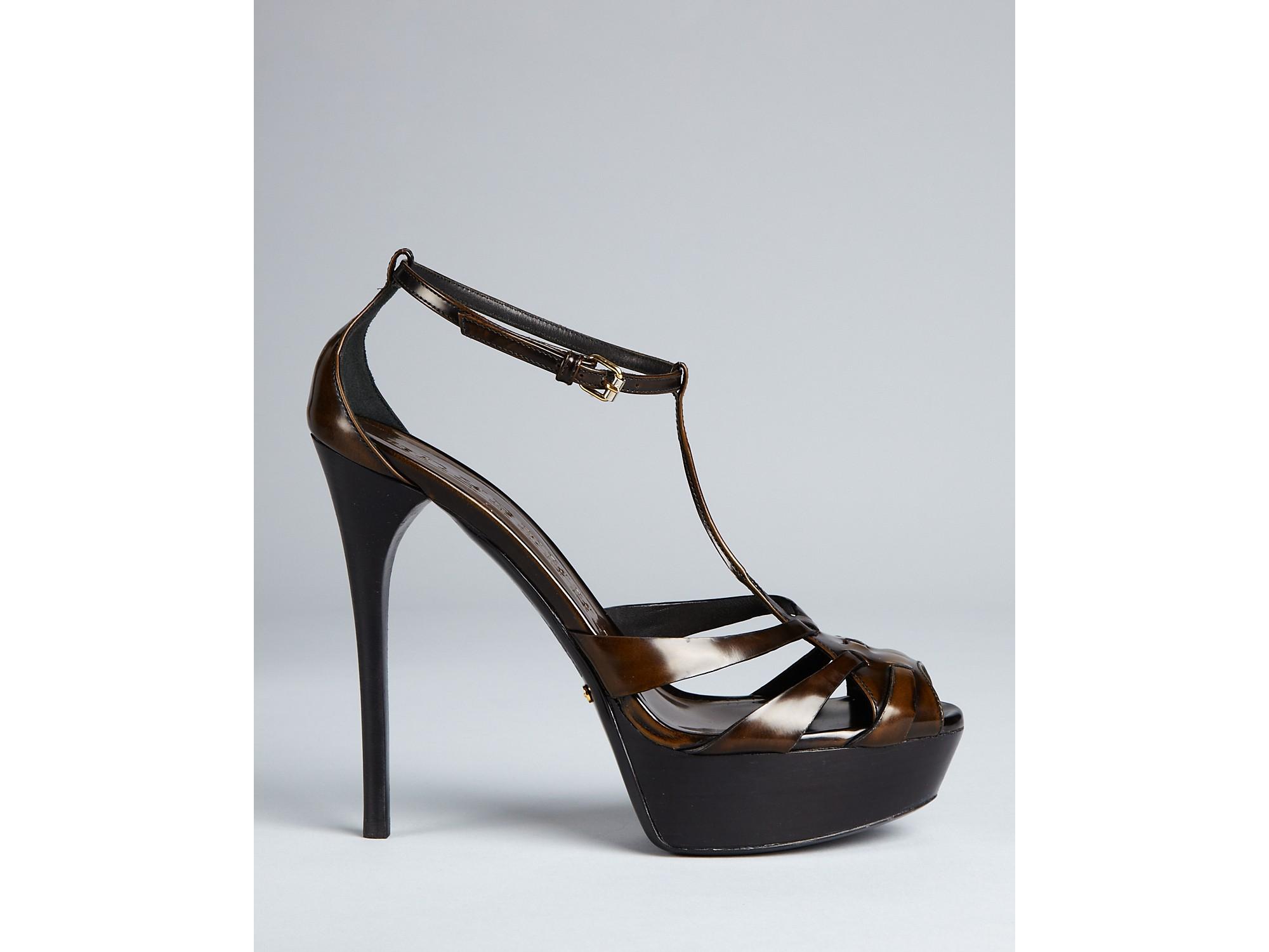 Burberry Platform T-Strap Sandals buy cheap 2014 unisex footlocker finishline online buy cheap good selling buy authentic online nTHCFAd5Ie