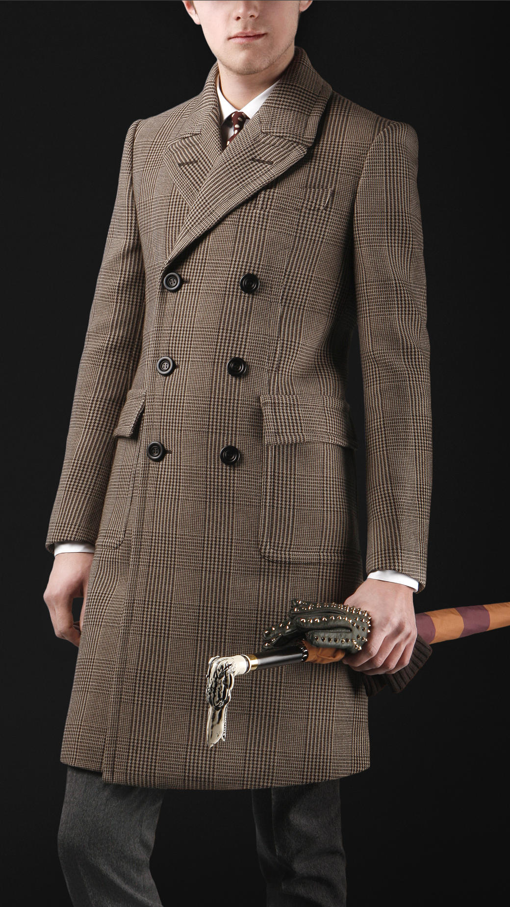 Lyst Burberry Prorsum Wool Tailored Chesterfield Coat In