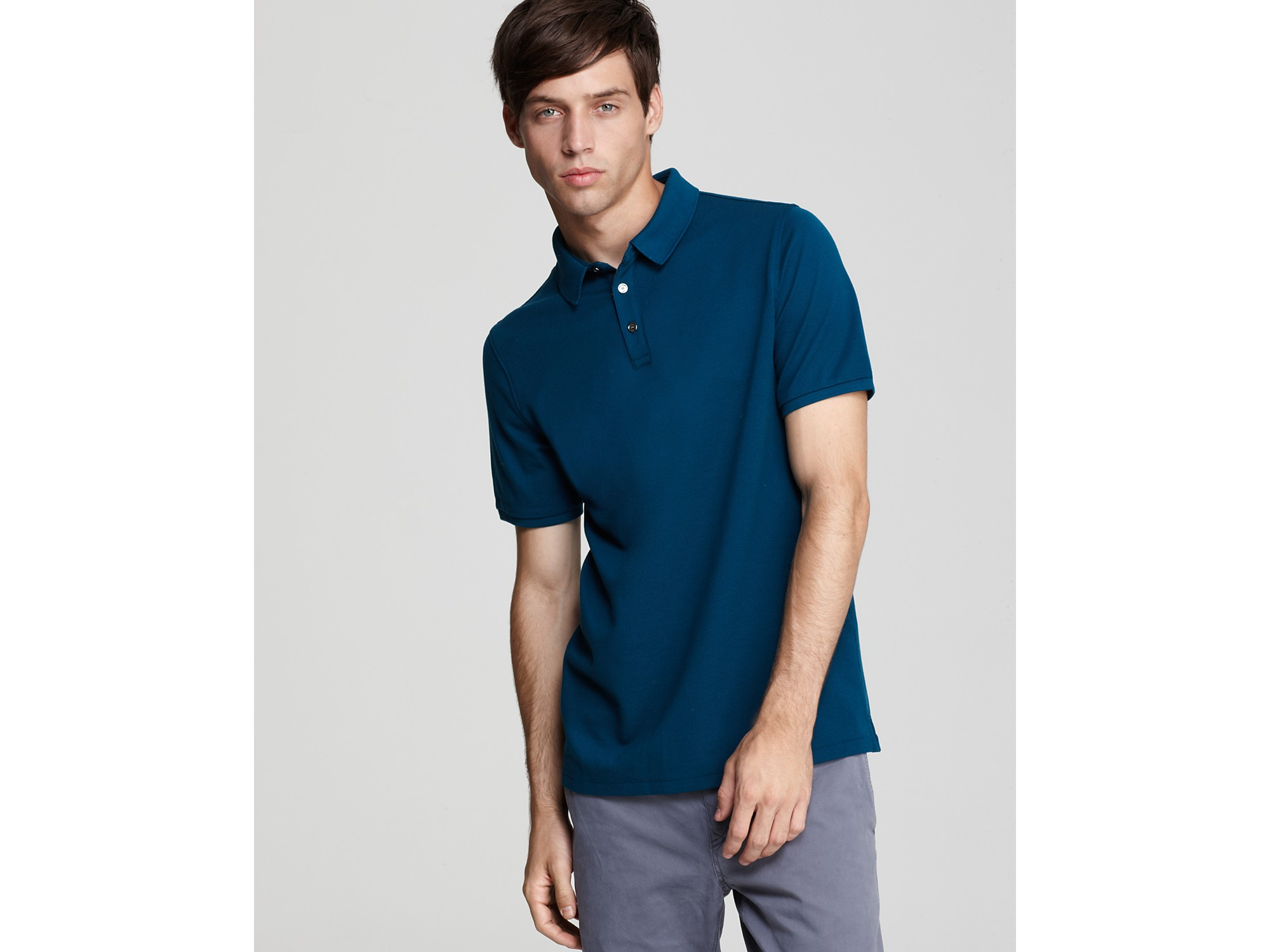 696a894c0e26 Lyst - Burberry Brit Finbourgh Slim Fit Polo Shirt in Blue for Men