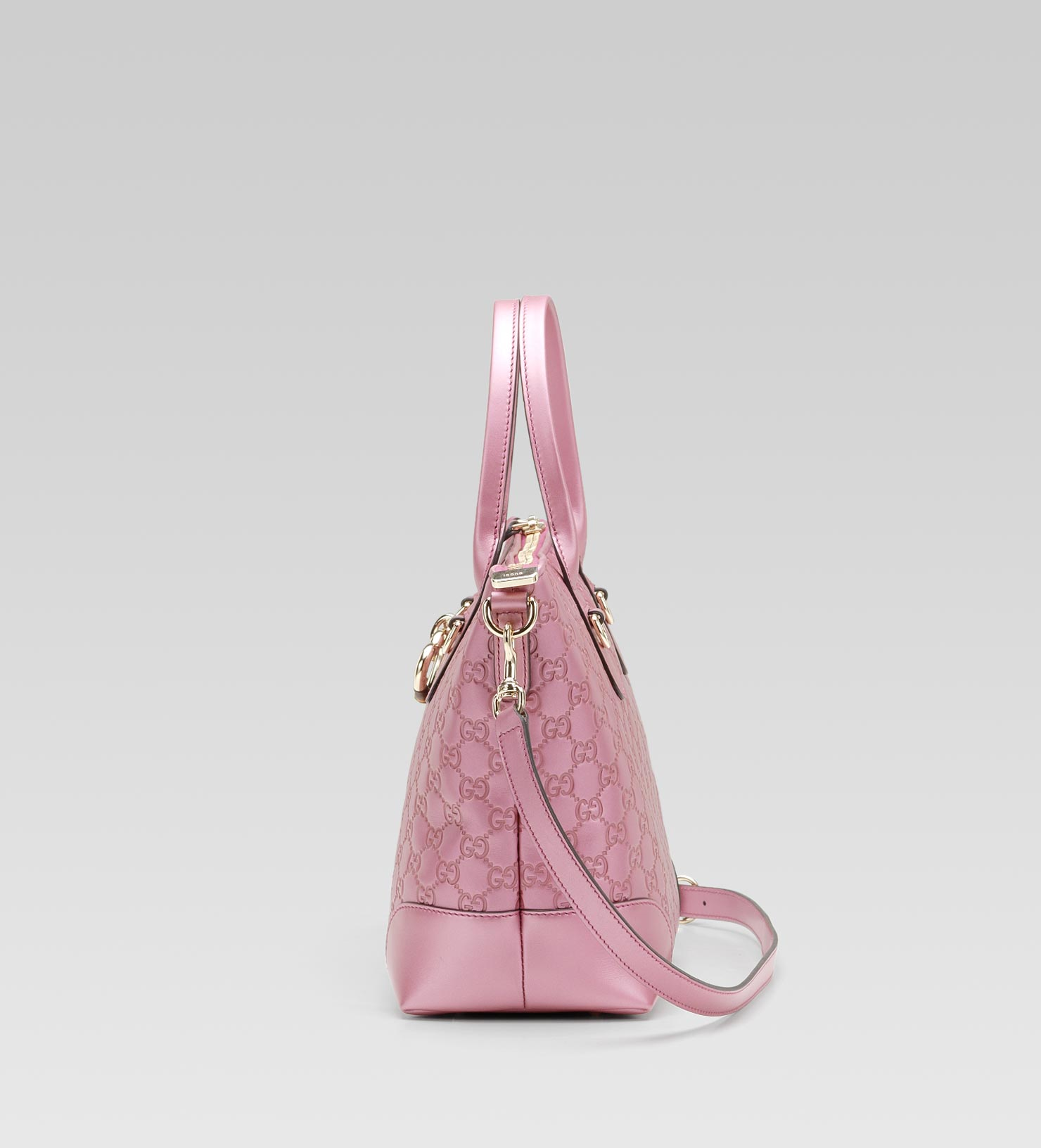 e4ea299a2e59 Gucci Heart Bit Charm Top Handle Bag in Pink - Lyst