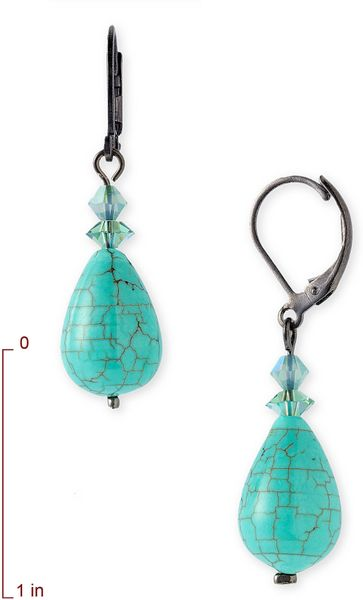 Dabby Reid Semi-Precious Crystal Drop Earrings in Blue (turquoise mix) - Lyst