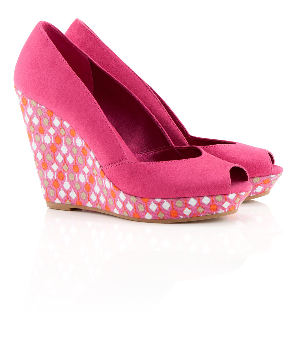 h m shoes in pink cerise lyst
