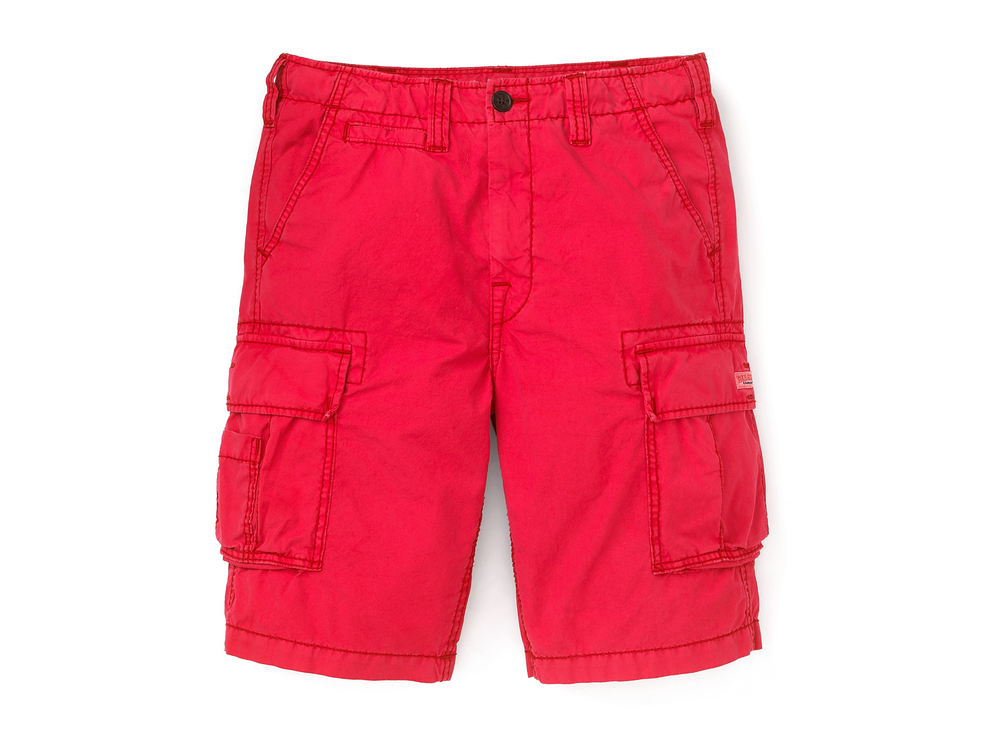 True religion Samuel Overdyed Cargo Shorts Red in Red for Men | Lyst