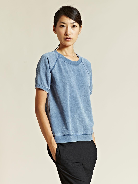 Rxmance Rxmance Womens Short Sleeve Sweatshirt in Blue | Lyst