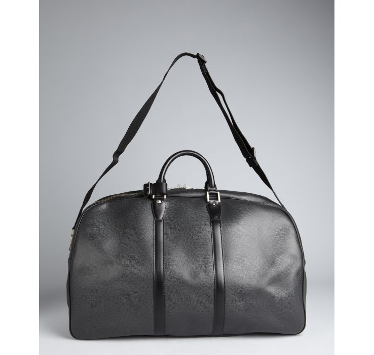 Lyst Louis Vuitton Black Coated Canvas Keepall 55 Duffel