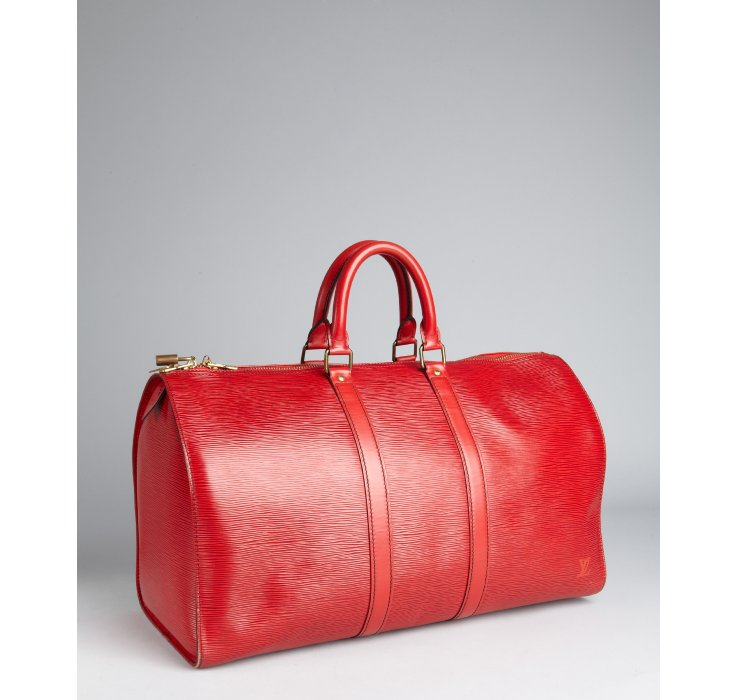 9204508143a7 Louis Vuitton Red Epi Leather Keepall 45 Vintage Duffel in Red - Lyst
