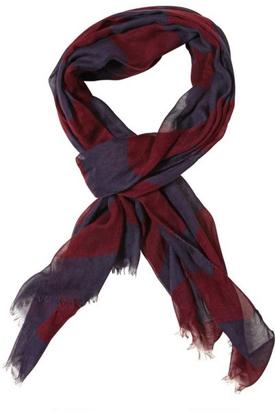 Burberry Prorsum Printed Modal Cashmere Light Gauze Scarf in Purple for Men (burgundy) - Lyst