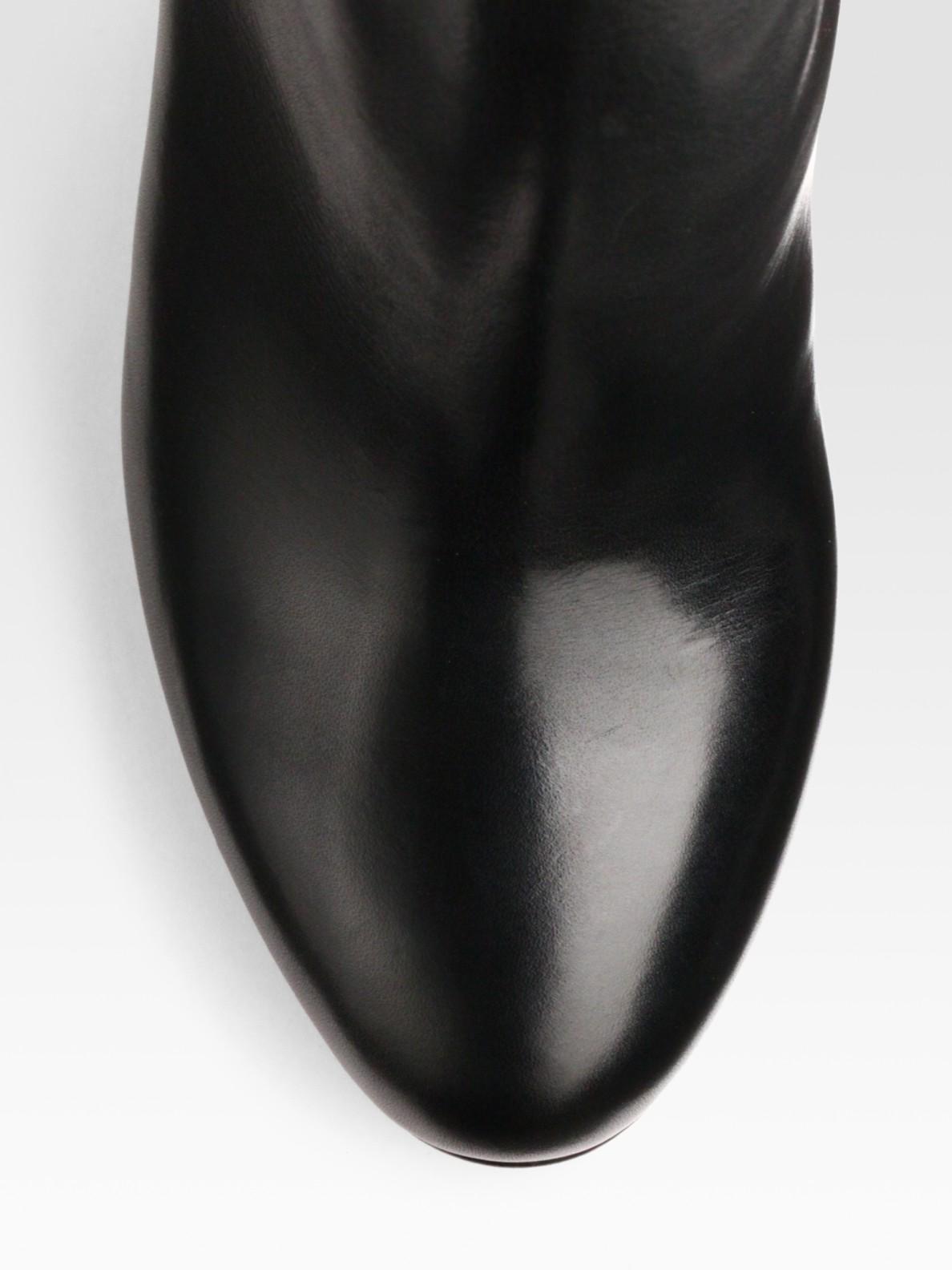 Keyword - christian louboutin wedge booties Black leather | cosmetics ...