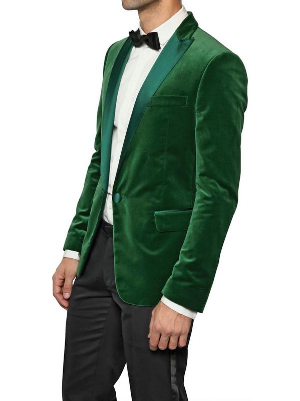 Dsquared² Satin Collar Velvet Tuxedo Jacket in Green for Men | Lyst