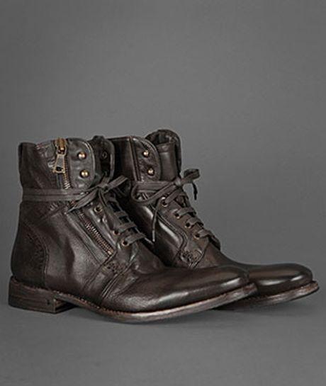 John Varvatos Ago Side Zip Boot In Brown For Men Espresso