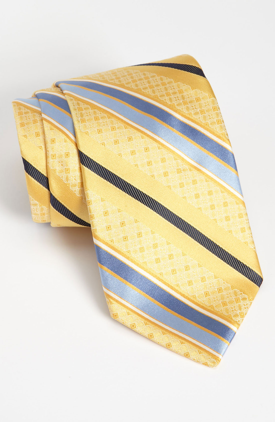 w nordstrom 174 woven silk tie in yellow for lyst