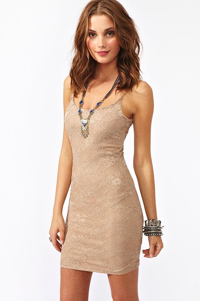 Lyst Nasty Gal Avery Lace Dress Mocha In Brown